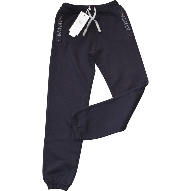 Armani Junior Pocket Logo Tracksuit Trousers - Children's Fashion Outlet
