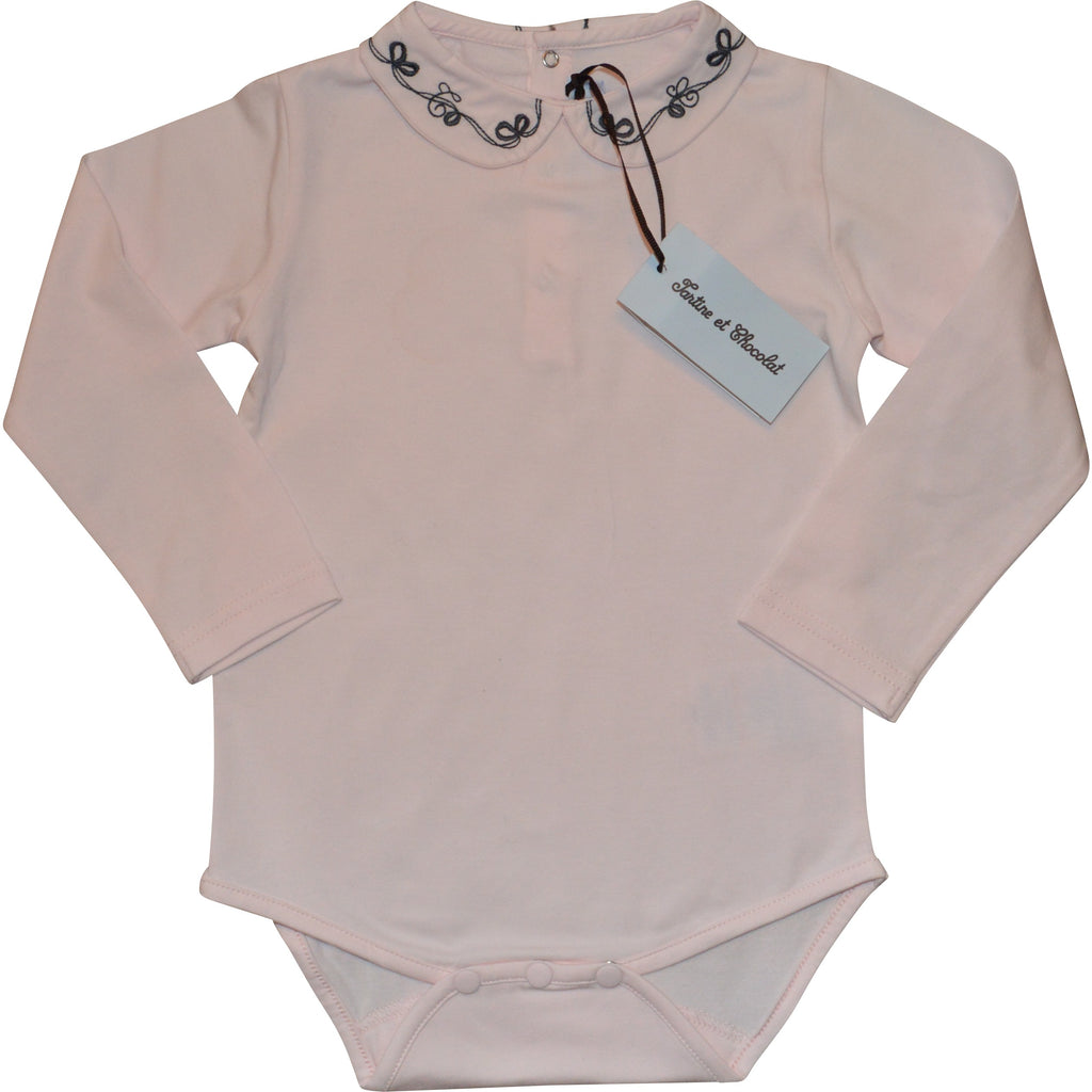 Tartine et Chocolat Pink Long Sleeved Bodysuit