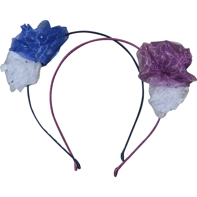 Bellage Hair Bands with Chiffon Flowers - Children's Fashion Outlet