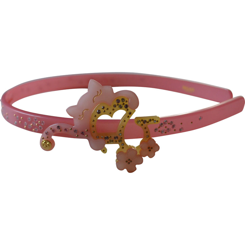 Bellage Kitty Heart Hair Band with Swarovski Crystals - Children's Fashion Outlet