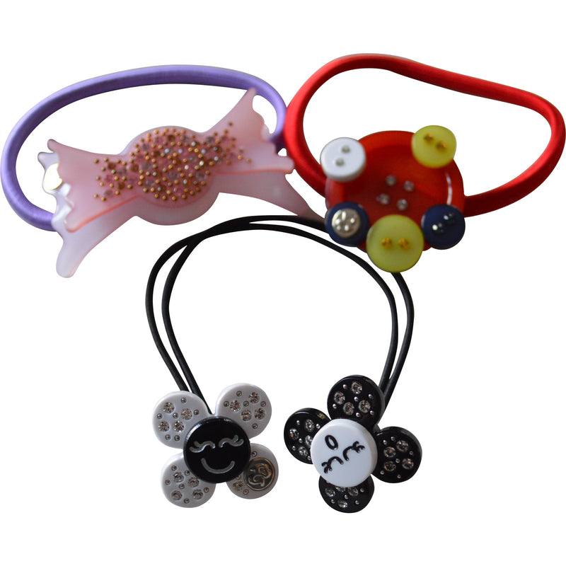 Bellage Hair Bobbles with Swarovski Crystals (Various Styles) - Children's Fashion Outlet