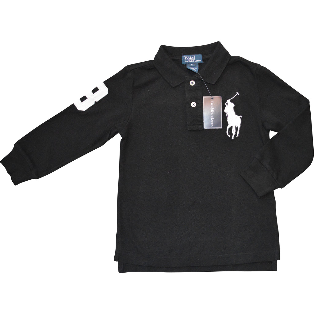 Ralph Lauren Black Polo White Large Pony Top