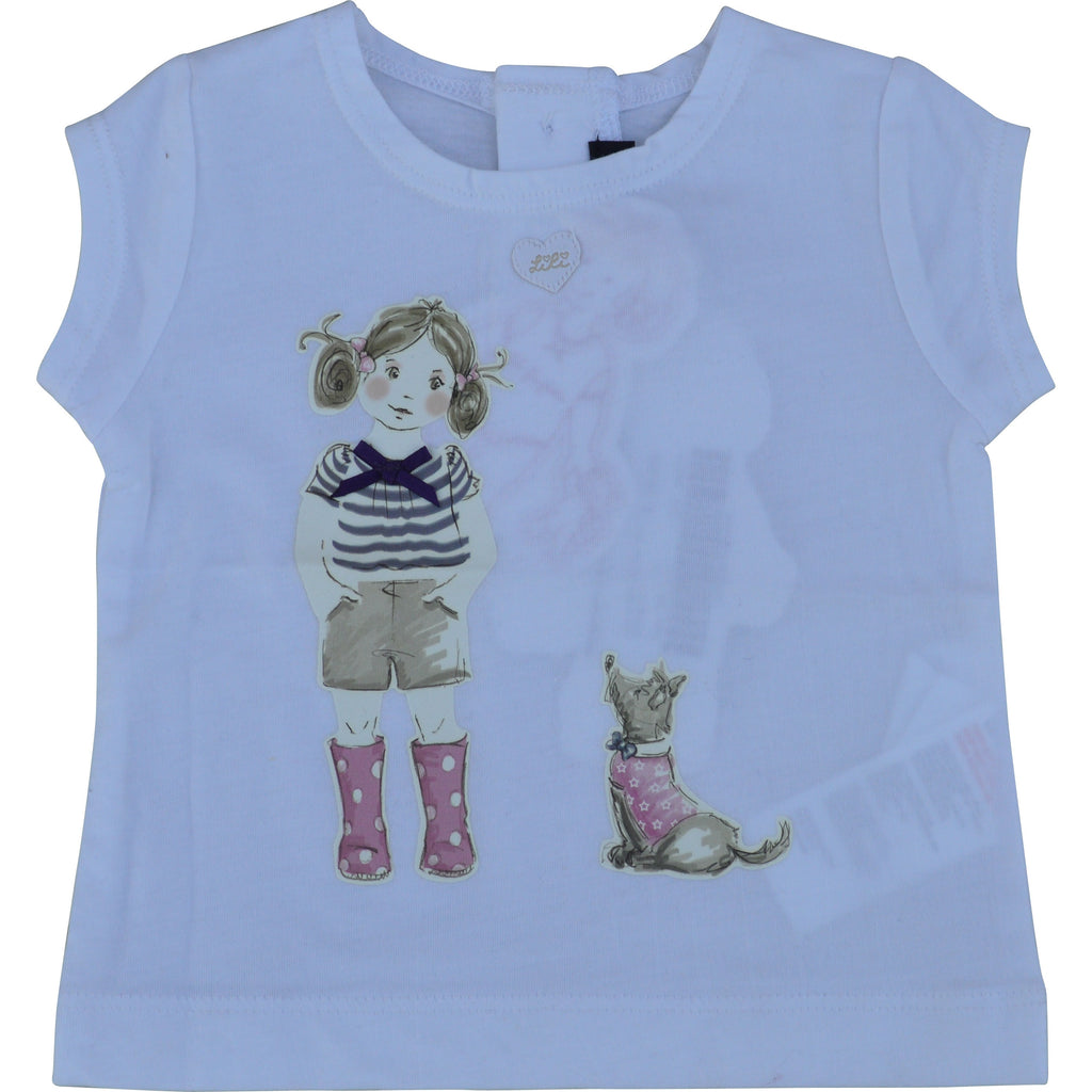 Lili Gaufrette Baby Girl with Dog T-Shirt