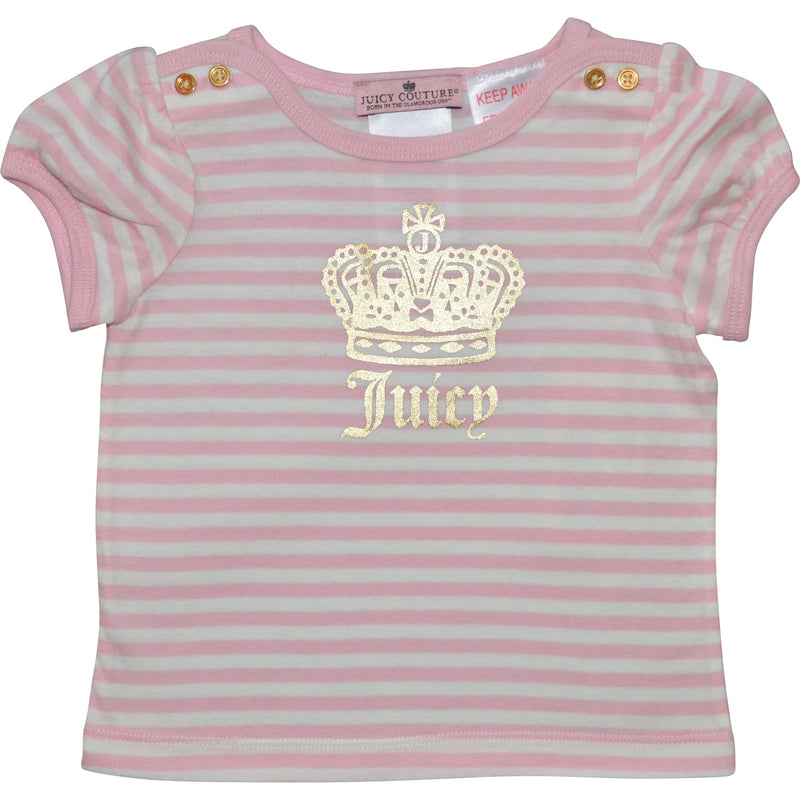 Baby Girl Striped Juicy T-Shirt - Children's Fashion Outlet