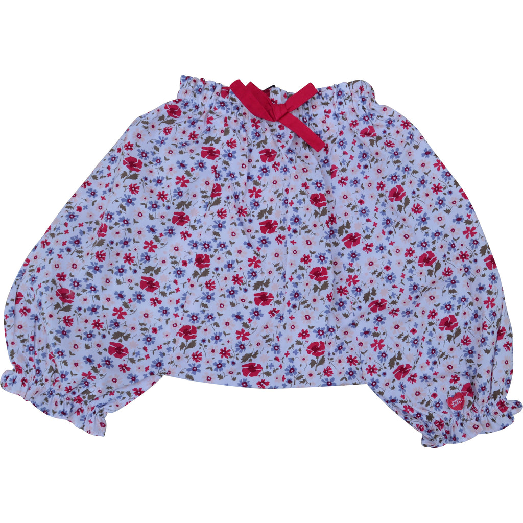Lili Gaufrette Baby Flowered Trousers