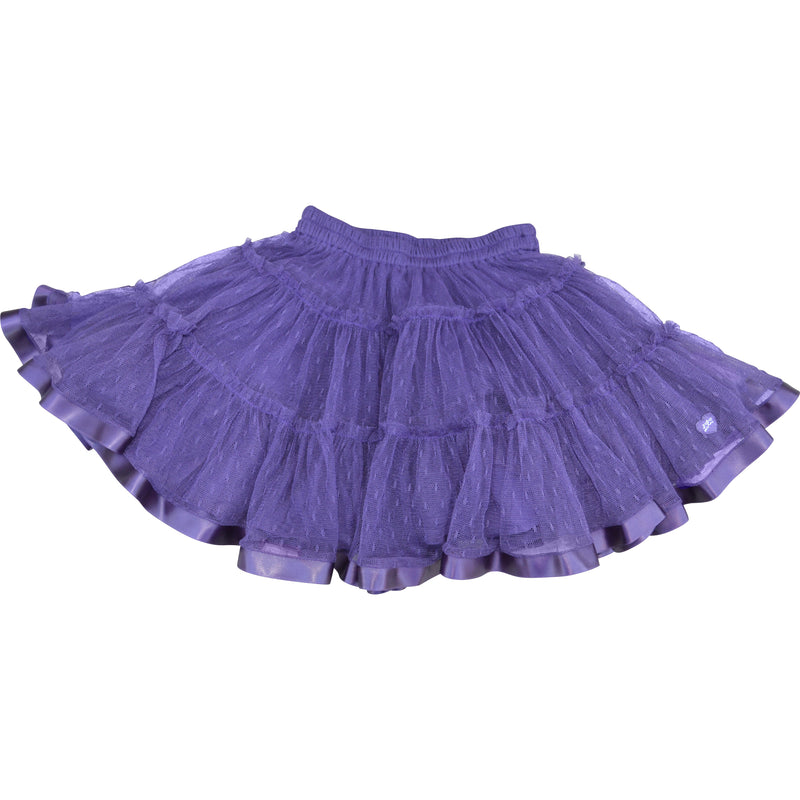 Lili Gaufrette Net Petti Skirt with Ribbon Edging