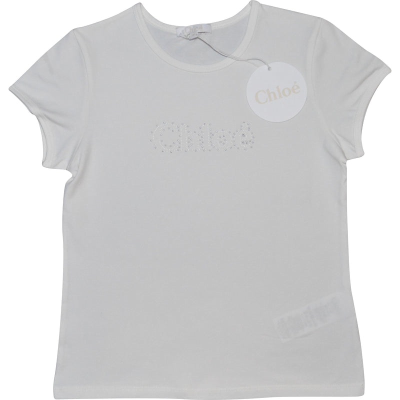 Chloe Logo T-Shirt - Children's Fashion Outlet