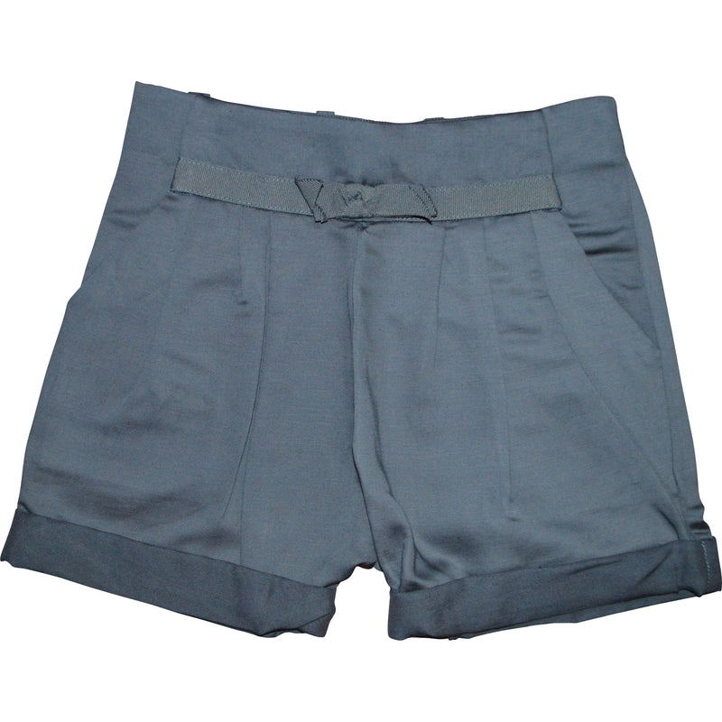 Chloe Grey Tailored Shorts with Bow - Children's Fashion Outlet