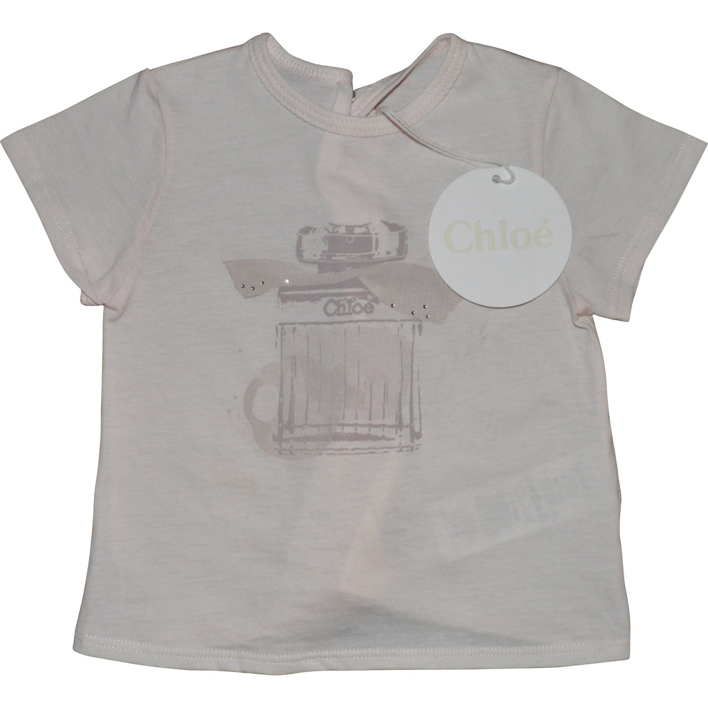 Chloe T-Shirt with Perfume Bottle Print - Children's Fashion Outlet