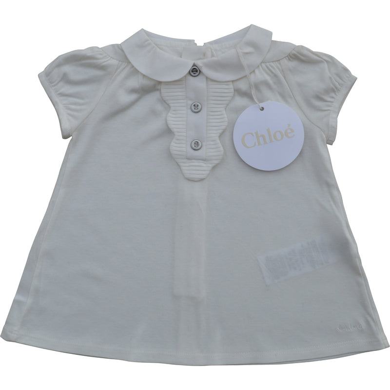 Chloe Baby Scalloped Dress and Knicker Set - Children's Fashion Outlet