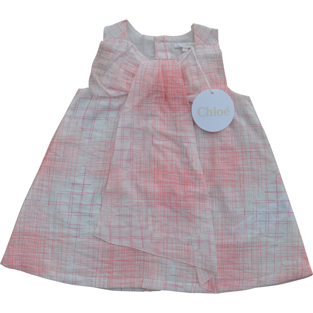 Chloe Crosshatch Patterned Swing Dress - Children's Fashion Outlet