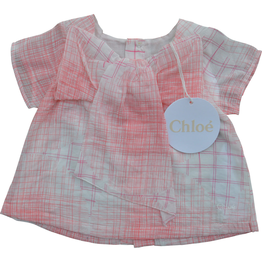 Chloe Crosshatch Patterned Swing Top - Children's Fashion Outlet