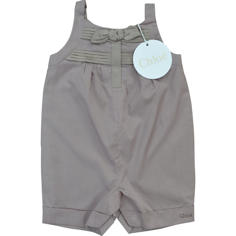 Chloe Bow and Pleat Playsuit - Children's Fashion Outlet