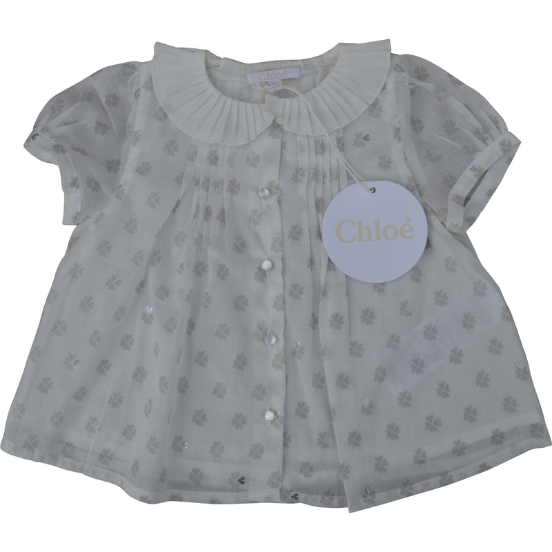 Chloe Baby Heart Clover Blouse - Children's Fashion Outlet