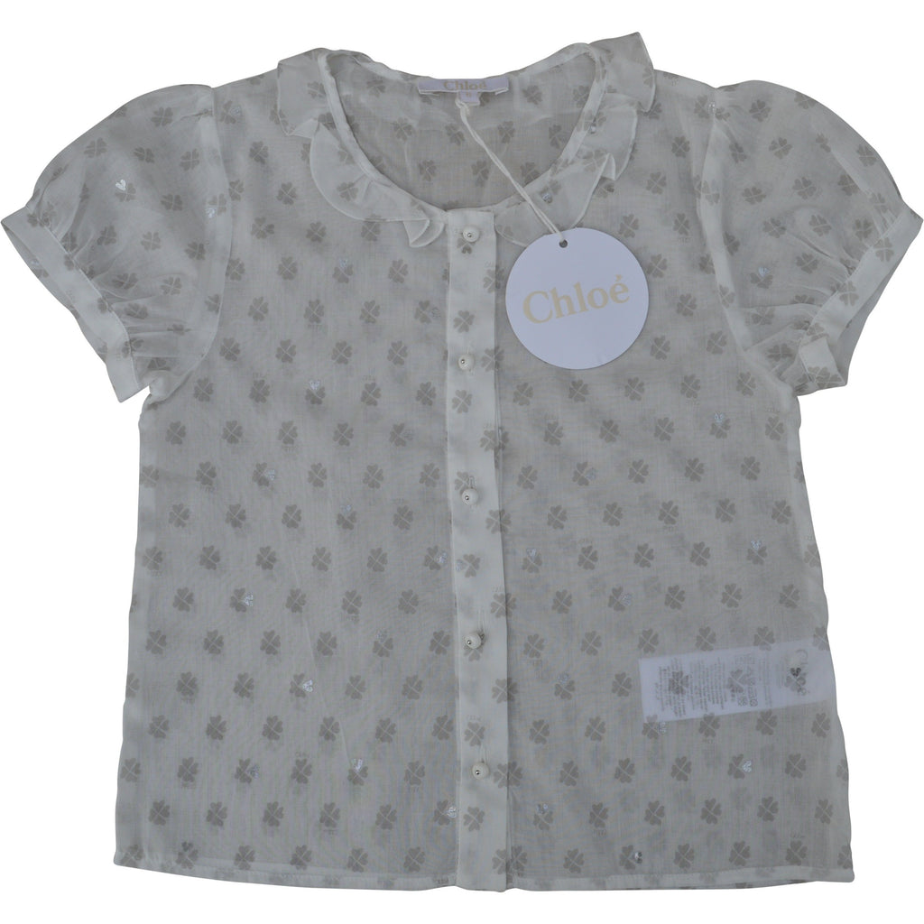 Chloe Heart Clover Blouse - Children's Fashion Outlet