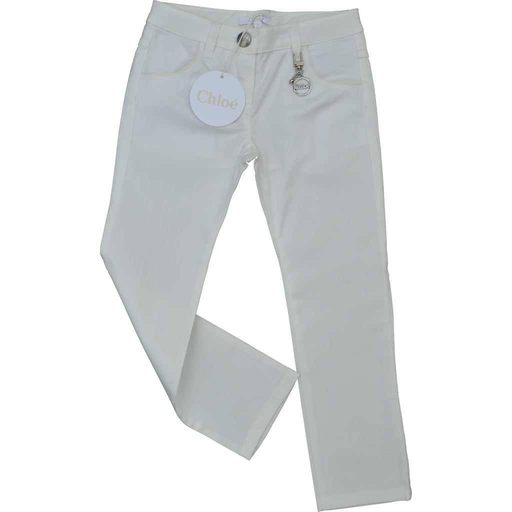 Chloe Cream Jeans - Children's Fashion Outlet