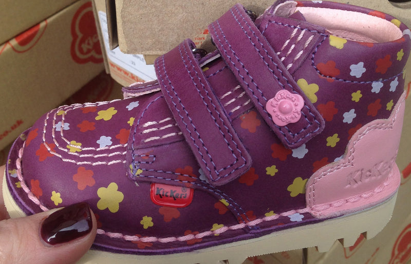 Kickers Kick High Strap Purple