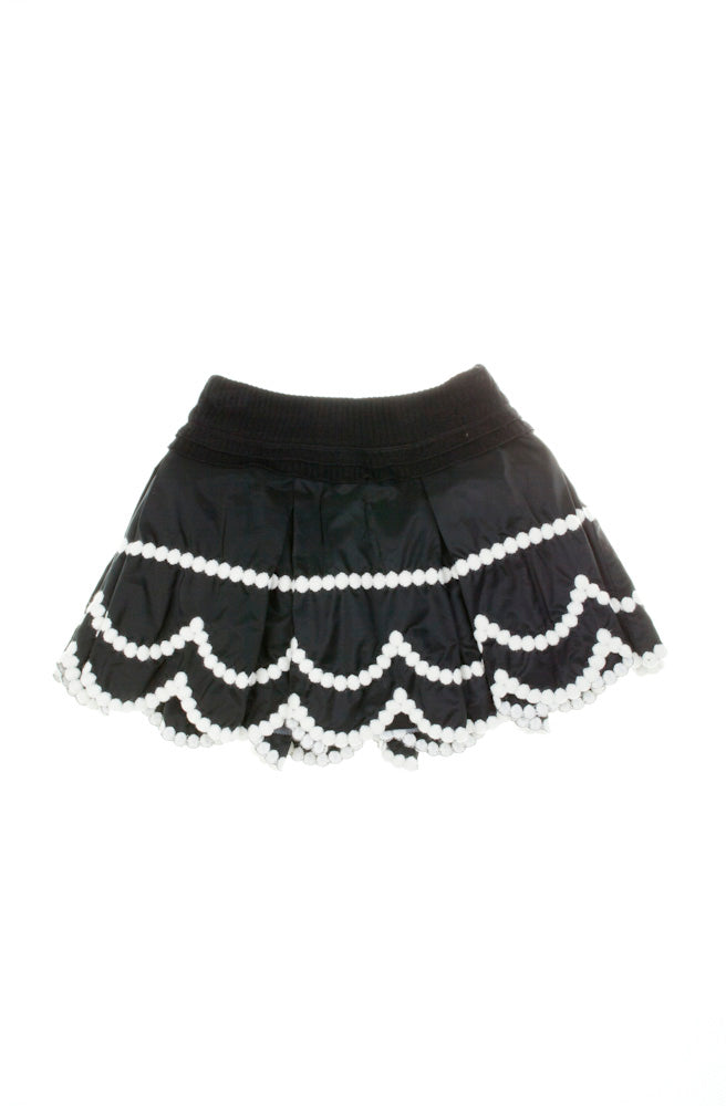 Monnalisa Black Party Skirt