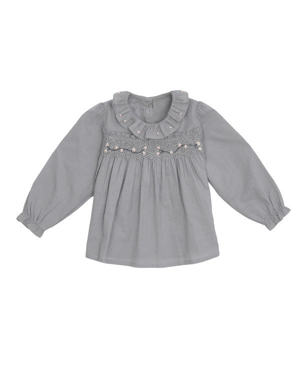 Tartine et Chocolat Ruffled Collar Top