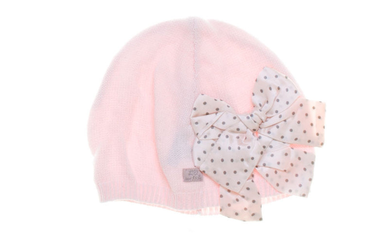 Lili Gaufrette Polka Dot Bow Knitted Hat