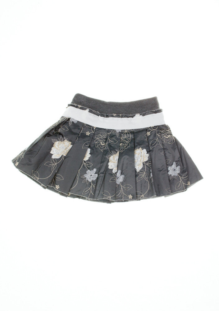 Monnalisa Dark Grey Embellished Skirt