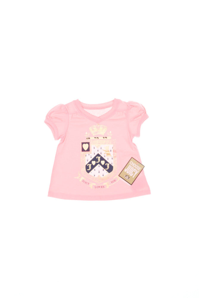 Baby Girl Juicy Crest T-Shirt - Children's Fashion Outlet