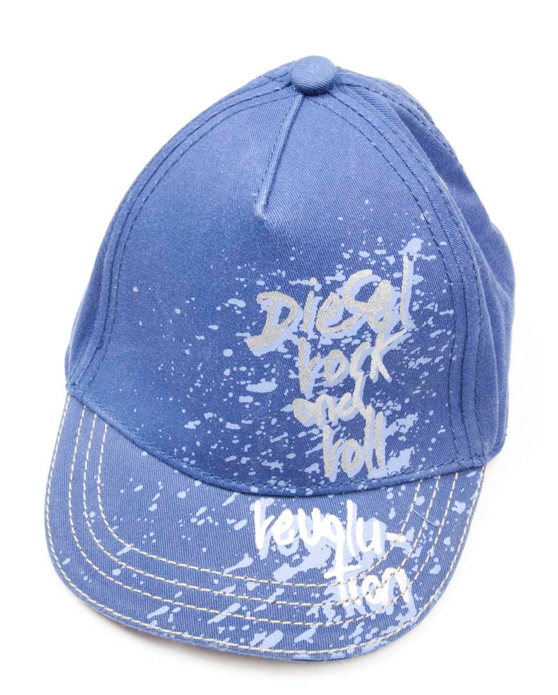 Diesel Logo Cap (Blue And Grey)