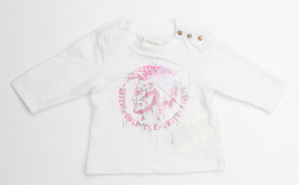Diesel Baby Girls Long Sleeved T-Shirt - Children's Fashion Outlet