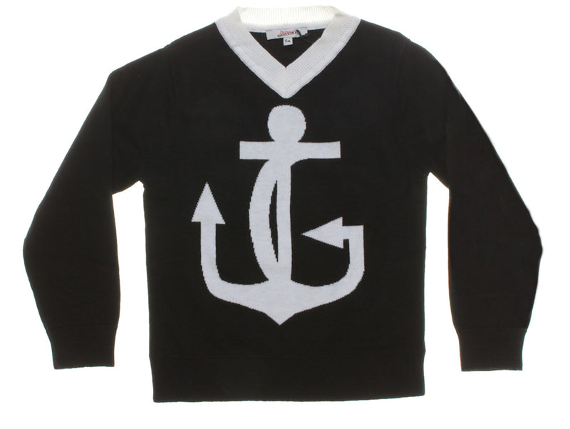 Junior Gaultier Anchor Logo Jumper