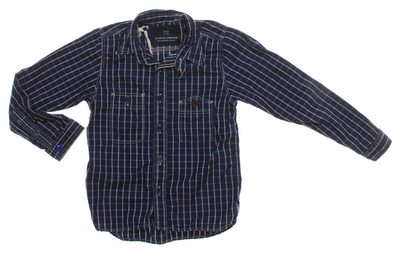 Scotch Shrunk Navy and Red Checked Shirt