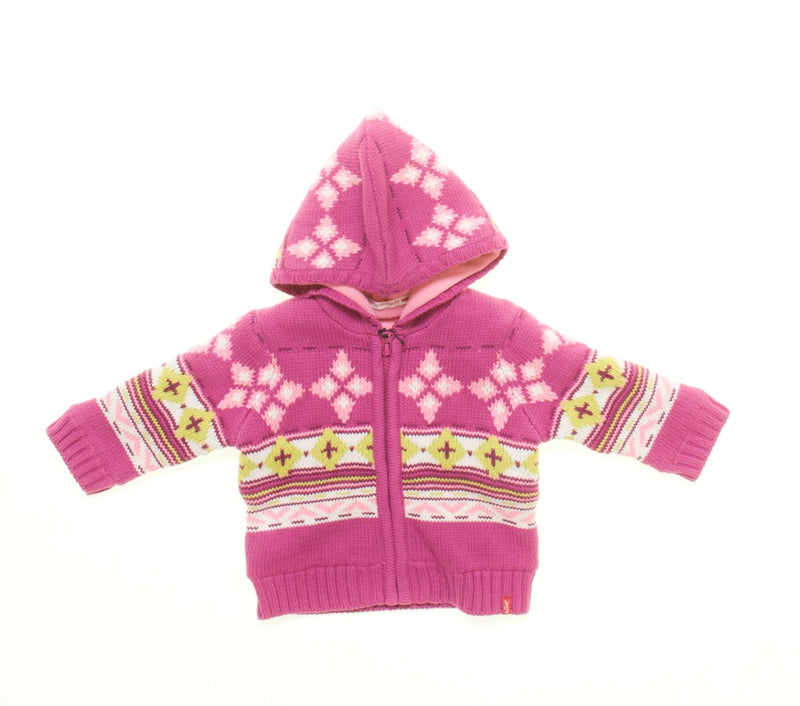 Levi's Girls Pink Zip up knitted Cardigan