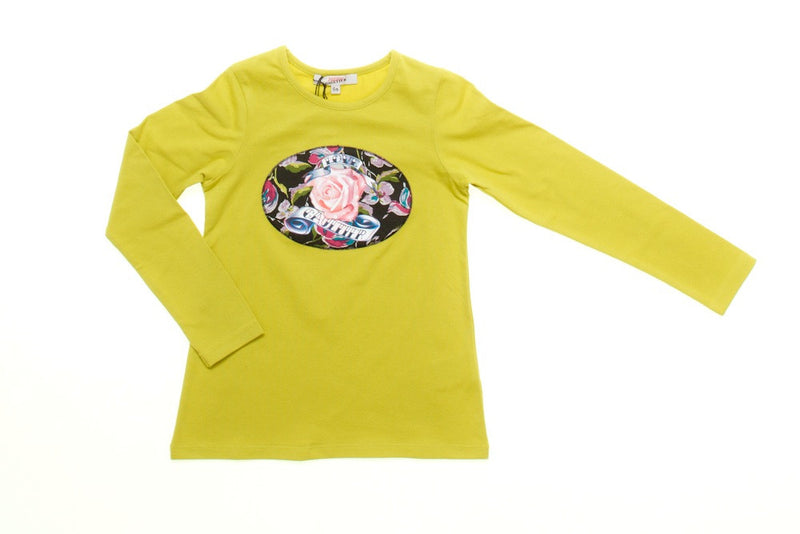 Junior Gaultier Long Sleeved T-Shirt (pink and lime green)