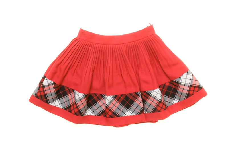 Junior Gaultier Tartan Bottom Trim Skirt (red and black available)