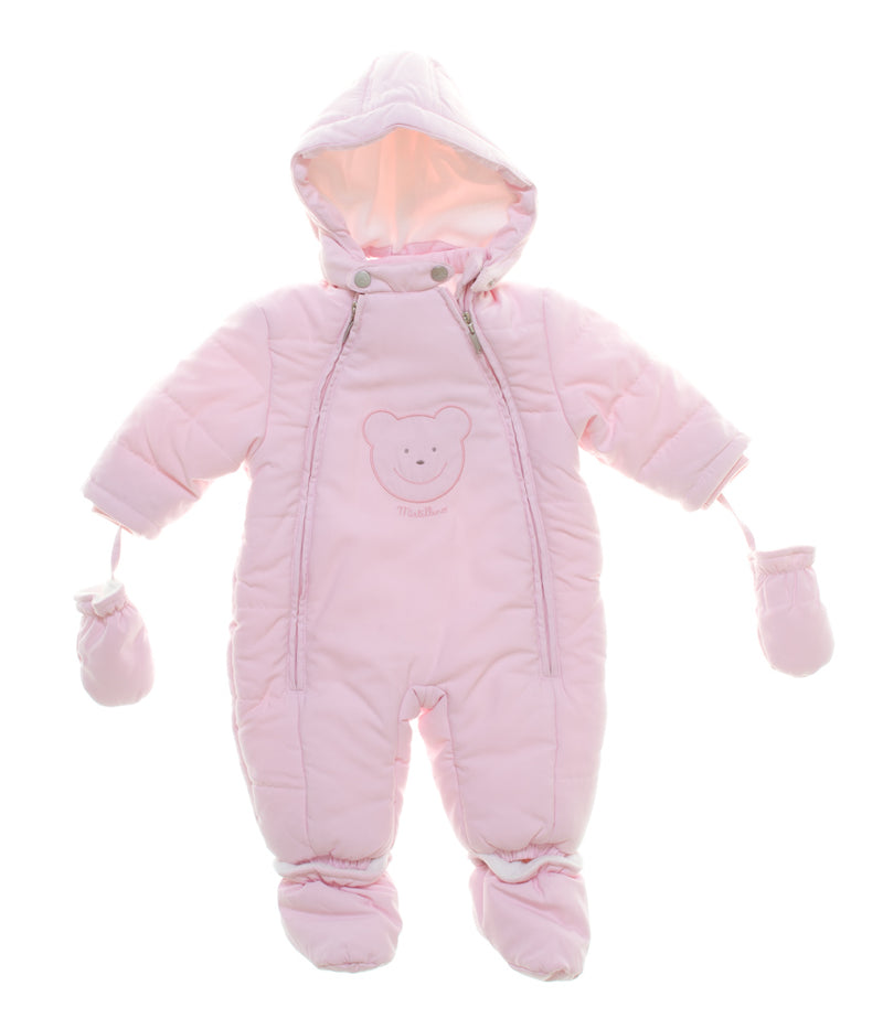 Mirtillo White Snow Suits with Teddy