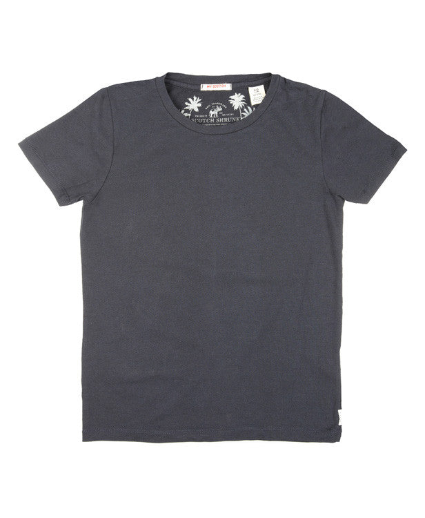 Scotch Shrunk Plain T-Shirt (navy, white and grey)