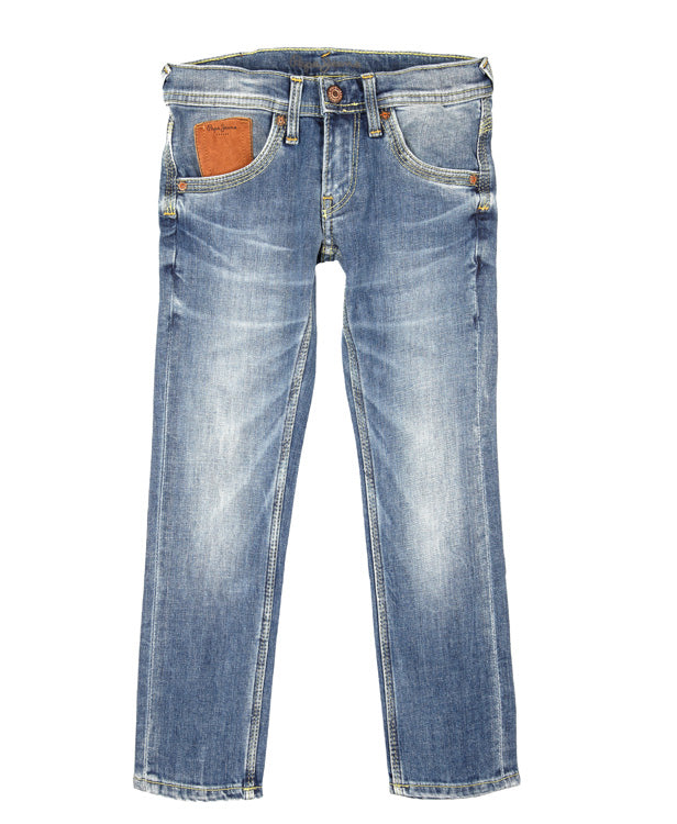 Pepe Leather Pocket Jeans