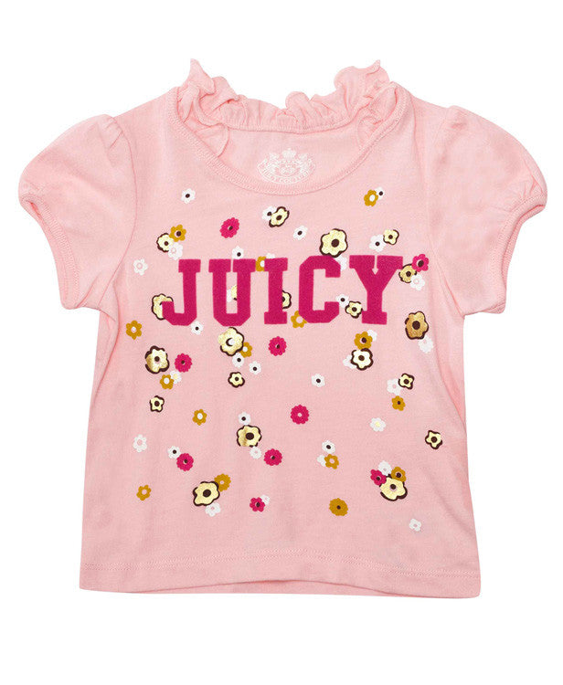 Juicy Couture Flowered T-Shirt