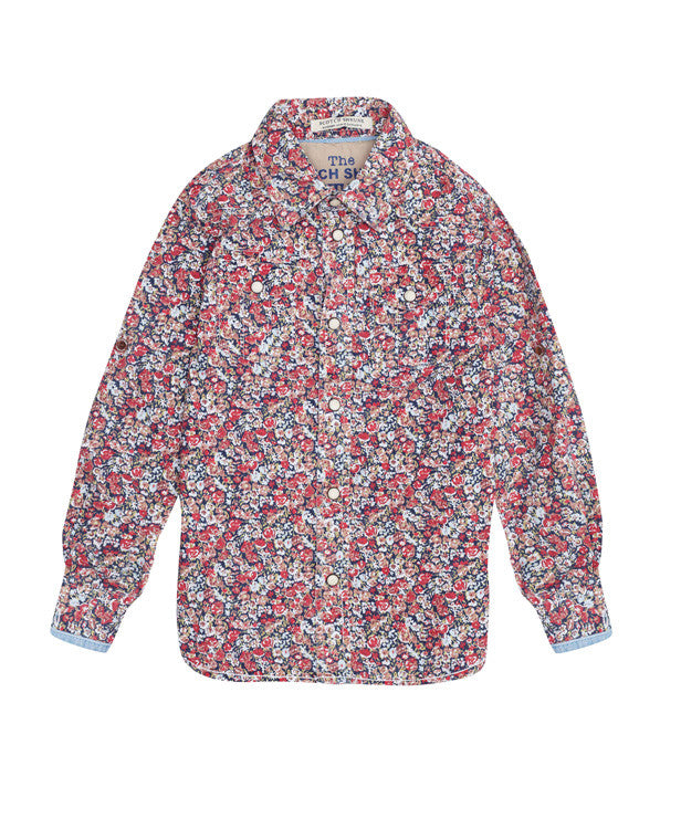 Scotch Shrunk Flowery Shirts (3 colours Red,Blue,Cream)
