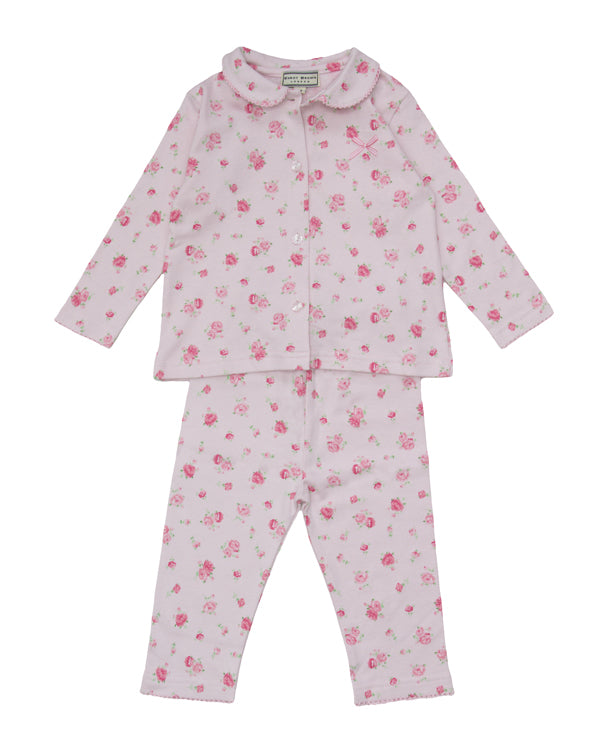 Darcy Brown Pink Flowered PJs - Children's Fashion Outlet