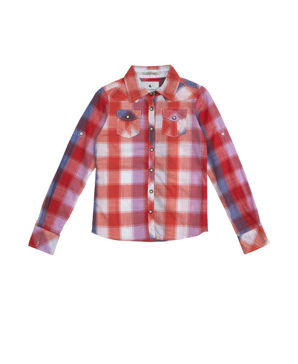 Scotch R'Belle Coral Check Shirt