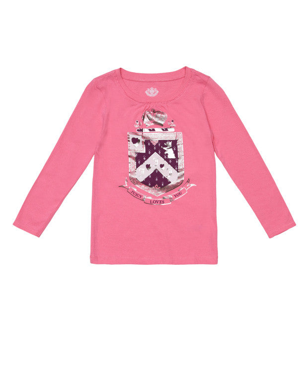 Juicy Couture Coat of Arms Long Sleeved T-Shirt