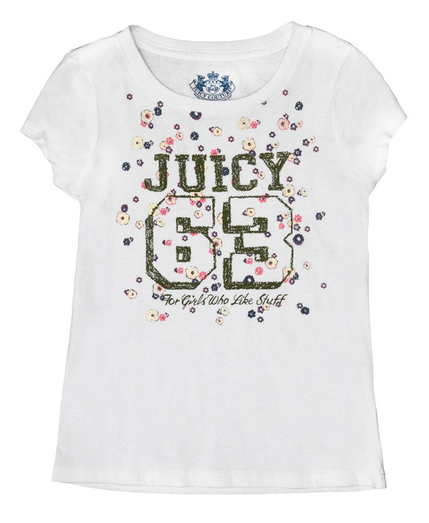 "Juicy Couture ""63"" Flowered T-Shirt"