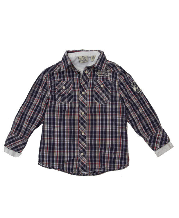 Scotch Shrunk Check Shirt with T-Shirt Inner