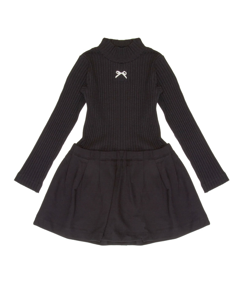 Lili Gaufrette Turtleneck Dress