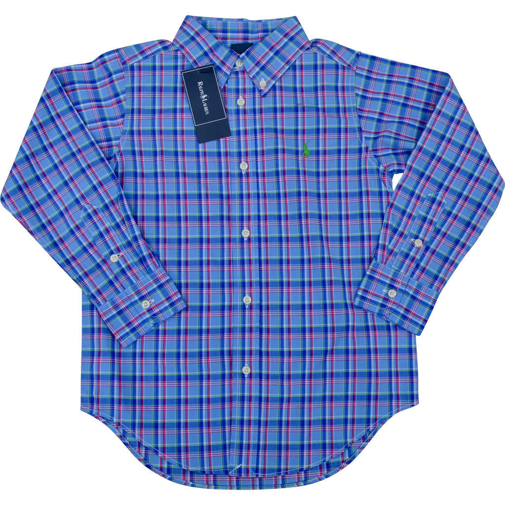 Ralph Lauren Pale Blue And Pink Check Shirt