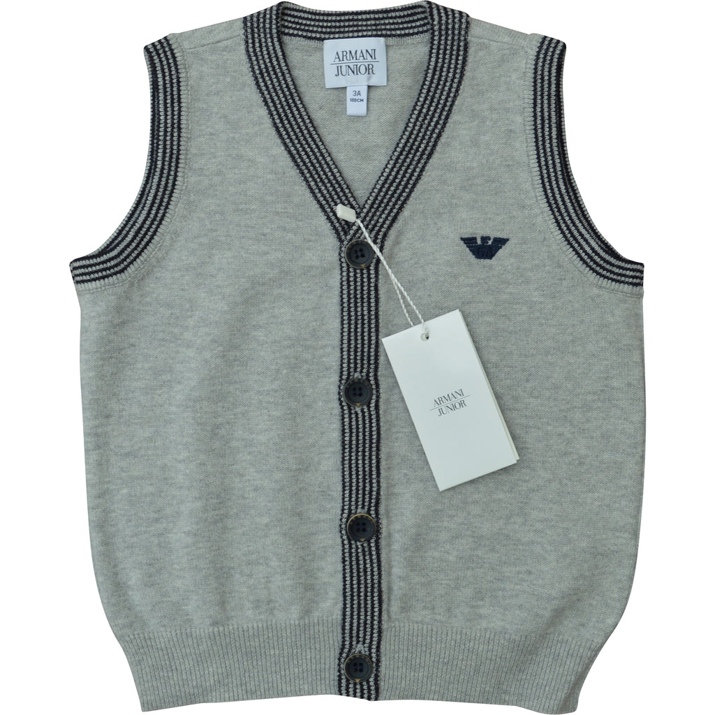 Armani Junior Sleeveless Waistcoat - Children's Fashion Outlet