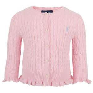 Ralph Lauren Ruffle Cable Knit Cardigan (3 Colours)