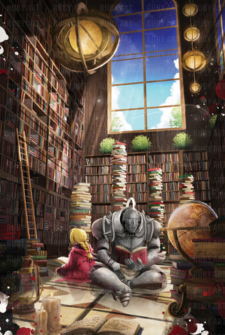 Library of Alchemist - Metal Print