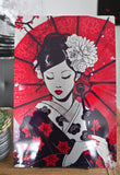 Japan Geisha - Metal Print