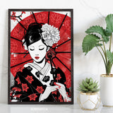Japan Geisha Art Print